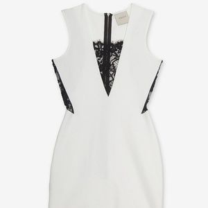 Michelle Mason White Lace Dress